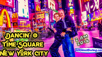 Mike & Kim: Dancing on Time Square New York, NY