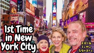 Time Square in NYC: Mike & Kim's first time