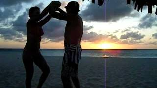 Dancing on the Beach in Aruba at Sunset!!