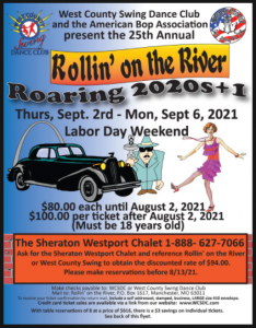 West County Swing Dance Club - Rollin' on the River 2021 @ Sheraton Westport Chalet Hotel | St. Louis | Missouri | United States