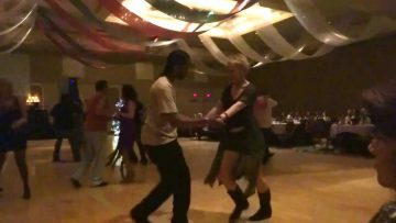 Kim Nelson dancing with Marcus Smith at FloorPlay NYE